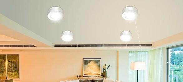 Đèn LED ốp trần cảm biến D LN09L 230/18W RAD SS Rạng đông