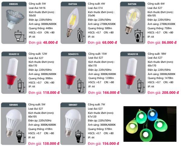 Đèn Led bulb Duhal