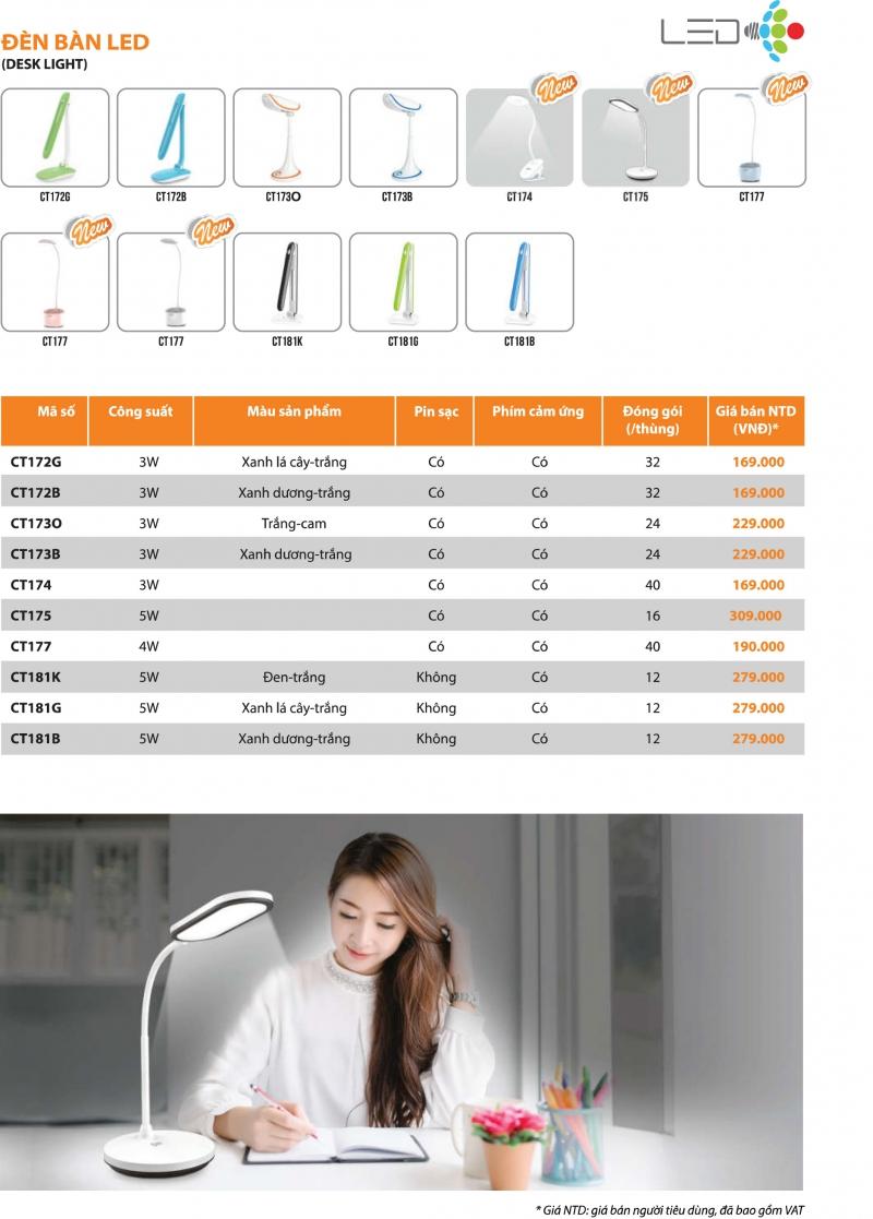 Bảng giá sản phẩm Comet mới nhất