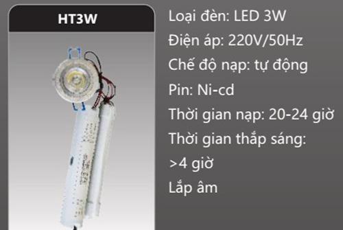 Đèn khẩn cấp âm trần 3W HT3W Duhal