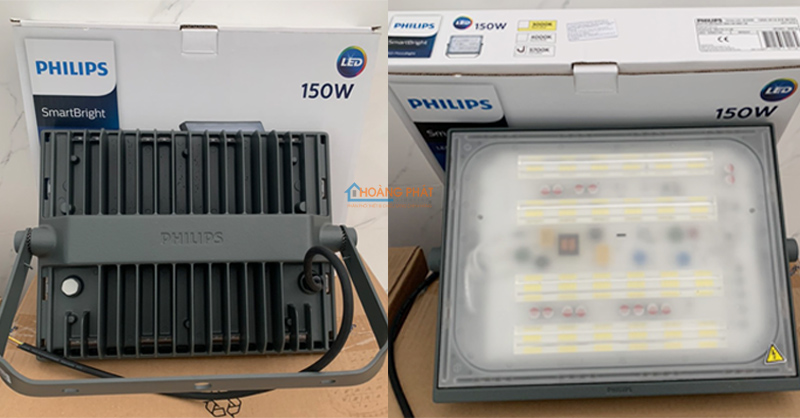 Đèn pha led 150W BVP175 LED142 WB GREY CE Philips IP65