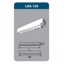 Máng đèn Led T8 1x9W LDA120 Duhal