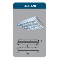 Máng đèn Led T8 3x9W LDA320 Duhal