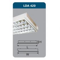Máng đèn Led T8 4x9W LDA420 Duhal