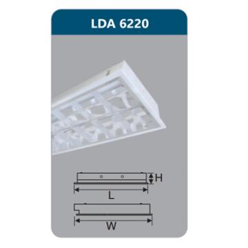 Máng đèn Led T8 2x18W LDA6240 Duhal
