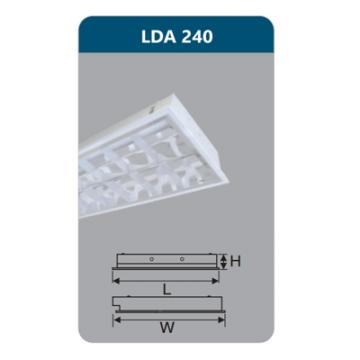 Máng đèn Led T8 2x18W LDA240 Duhal