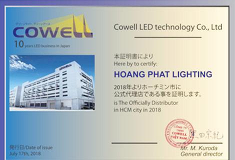 Nhà phân phối đèn led Cowell Nhật Bản